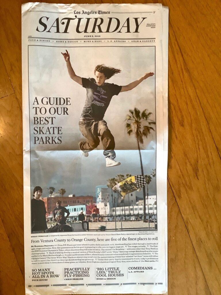 Skateboard LA Times